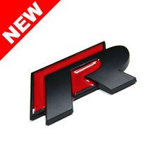 VW R LINE TRUNK EMBLEM BADGE - RED/BLACK