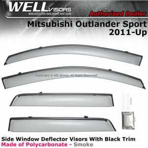 WELLvisors Mitsubishi Outlander Sport 11-20 Side Clip on Window Visors