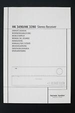 HARMAN/KARDON HK 3490/HK 3390 Original Stereo Receiver Bedienungsanleitung