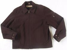 Columbia Men's Heavy Wool Blend L/S Full Zip Dark Brown Fall Winter Jacket - M