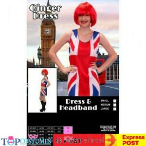 Ginger Spice Costume Spice Girls Union Jack Dress Geri Halliwell 1990s