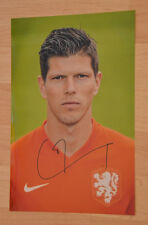 ORIGINAL Autogramm von Klaas Jan Huntelaar. pers. gesammelt. 20x30 Foto. ECHT