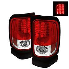 94-02 DODGE RAM 2500/3500 SPYDER RED/CLEAR LED TAIL LIGHTS.