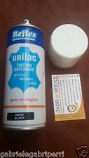 Reflex Unilac POKER 400 ml. NERO BLACK NOIR TINTURA VERNICE NITRO PELLE CUOIO