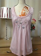 Phase Eight UK12 Clara Sleeveless Vest Top Pink Holiday Party Event, BNWOT (X1)