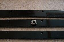 """CNC Stepper Motor  Mech Rack & Gear 72""""  Rack (3x24""""pcs) 5/16"""" 15T Pinion Gear"""
