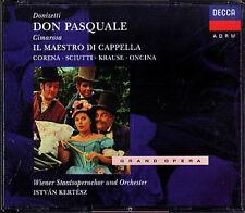 Donizetti DON PASQUALE + Cimarosa Corena Tom Krause Kertesz 2cd Oncina SCIUTTI