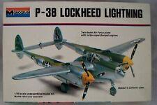 U.S.Dealer 1/48 Scale Lockheed P-38 Lighting WWII Fighter Vintage Plastic Kit