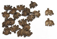 Metal Craft Dressing 6 PC Elephant Appliques Indian Ethnic Patch Sewing Crafting