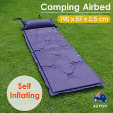 Camping Airbed Self Inflating Mattress Hiking Mat Sleeping With Pillow Bag Camp