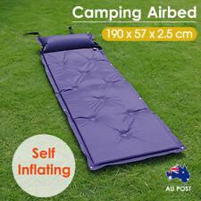 Camping Airbed Self Inflating Mattress Hiking Mat Sleeping with Pillow Bag Camp