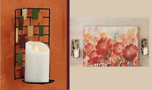 Geometric Metal Applique Wall Sconce Candle Holder
