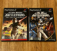 JAPAN Ver lot Star Wars Battlefront I+II 1+2 PS2 PlayStation 2