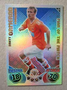 Match Attax Extra 2010//11 Premier League Tarjetas de Papel de Aluminio hombre del partido//100 Club