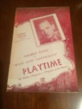 Playbill  Shubert Theatre Maurice Evans in Man and Superman Week Sept 29, 1947