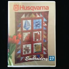 Husqvarna Viking Applique Quilting Embroidery Designs Card #27 Rose #1+ Iris