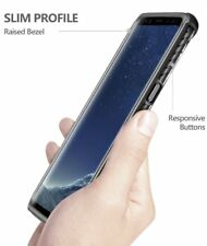 For Samsung Galaxy S8 Poetic【Affinity 】Slim Fit Soft Shock Proof Case Black