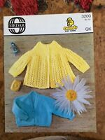 Baby knitting patterns.cardigans.size 18-19 inch chest.Sirdar.boy/girl.matinee