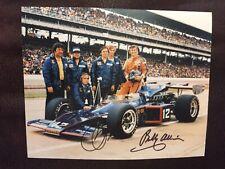 Bobby Allison Roger Penske Signed Indy 500 8 X 10 Car Photo Indianapolis 1973