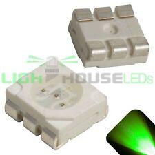 100 x LED PLCC6 5050 Pure Green SMD LEDs SMT Light Super Ultra Bright Car PLCC-6