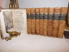 F. A. Chateaubriand: GENIE DU CHRISTIANISME 9 volumi 1804 Lyon Tavole Legatura