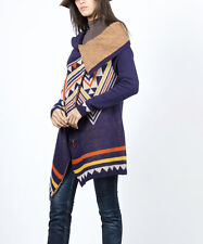 New!Cowgirl Southwestern Blue Geo Tribal Print Cardigan Duster XL or XXL $76