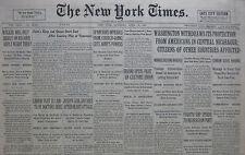 4-1931 APRIL 18 WASHINGTON WITHDRAWS PROTECTION NICARAGUA. JOSEPH LEBLANG DIES