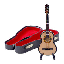 AU Mini Classic Guitar Miniature Wooden Musical Instruments Collection Ornaments