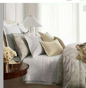 Ralph Lauren Home Mariella Paisley FULL/QUEEN Duvet Cover Grey Cotton Sateen