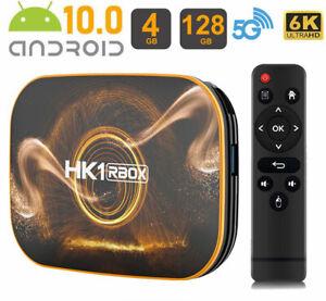 New US 2021 Smart Android 10.0 TV Box Quad Core 6K WIFI HD Media Stream Player