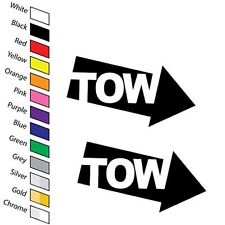 x2 TOW Car Stickers Decals Race Rally Trackday Racing Motorsport