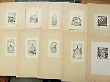 More details for ten  vintage ex libris  mixed lot incl.1940s