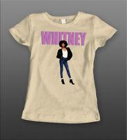 SINGER WHITNEY HOUSTON *OLDSKOOL ART* LADIES Shirt *MANY OPTIONS*