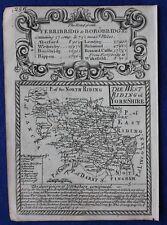 Contea di originale antica mappa, Inghilterra, West Riding of Yorkshire, E. Bowen, c.1724