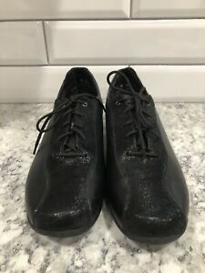Munro Shoes Lace Up Oxford Black USA Womens 8 M leather suede M493253