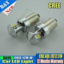 2 x New T11 BA9S 1445 39431 64111 H6W White CREE XQD 12W LED Car Light Bulb Lamp