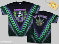 Kush Woodstock Festival cannabis tie dye t-shirt -size XL New, Never Been Worn!