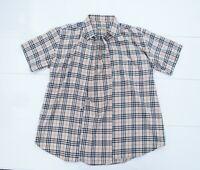 Mens Burberry London Beige Nova Check Short Sleeve Shirt Size