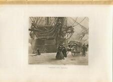 ANTIQUE VICTORIAN GALLEY SHIP ANGEL FIGUREHEAD HORSE CARRIAGE GOODBYE SEA PRINT