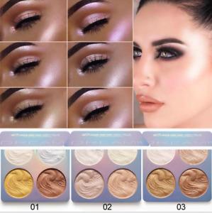 4 Colors Beauty Highlighter Palette Makeup Face Contour Powder Bronzer Make Up