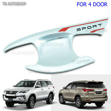 4 Door Bowl Housing Chrome Handle Cover Fit Toyota Fortuner Suv 2015 2016 2017