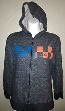 Women's Juniors Size M Medium 7/9 Quicksilver Gray Full Zip Hoodie Jacket A5