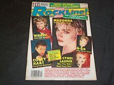 1986 OCTOBER ROCKLINE! MUSIC MAGAZINE - MADONNA COVER - GREAT PHOTOS - O 5558