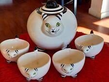 Chat Japonais Service à The Maneki Neko 1- Théière Chat Tasses en Ceramique