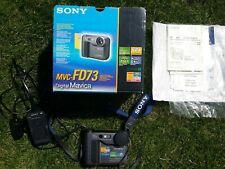 Sony Mavica Digital Camera MVC-FD73 Retro Vintage Original Box Battery Charger