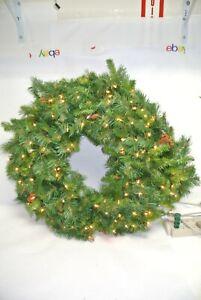 "Vickerman 42"" Cheyenne Pine Wreath w/ 100 Dura-Lit Lights A801043"