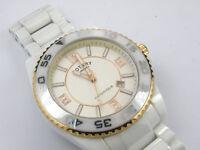 Rotary Men's Quartz White Ceramic Bracelet CEWBG/18 Watch- 100m