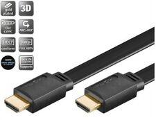 2m goobay hdmi™ hdtv 19 pol flach kabel flachkabel ethernet vergoldet schwarz