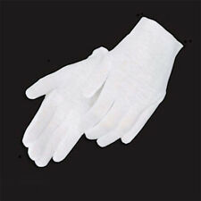 White Inspection Cotton Lisle Work Gloves Coin Jewelry weight thin thick