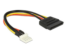 4pin Floppy FDD male to 15pin SATA Power female cable - Dell MX714 alternative